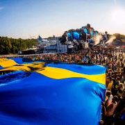Svenske Avicii flag på Tomorrowland 2018