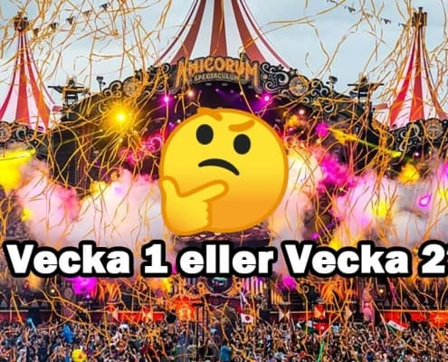 What is the difference between week 1 and week 2 at Tomorrowland