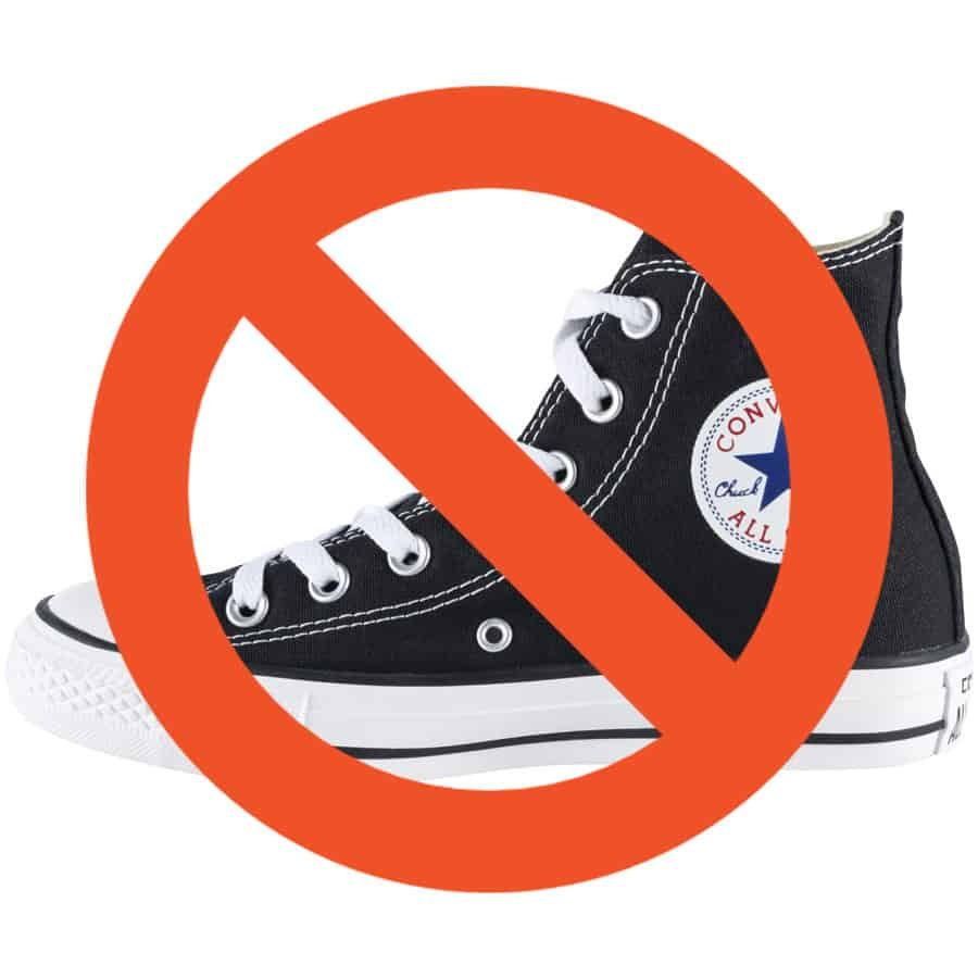 Converse - A shoe you should not use on a rave