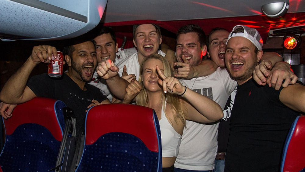 Pre-party on the bus to Qlimax