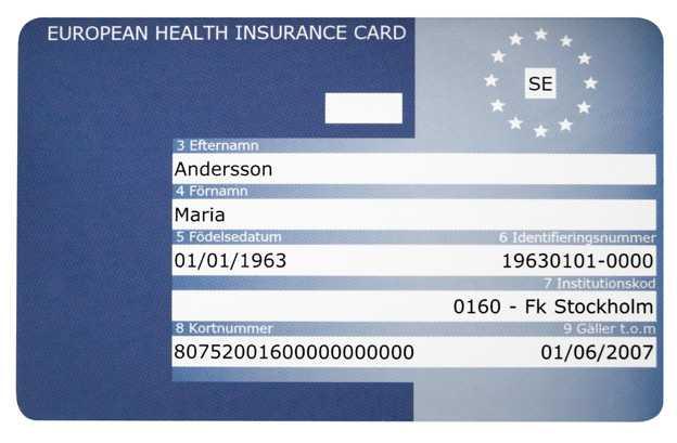 Karta ubezpieczenia zdrowotnego - ważna w przypadku choroby za granicą