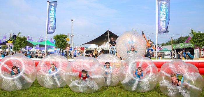 Bumper ball på Intents Festivals camping