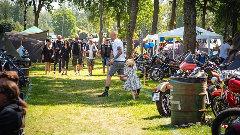 Camping på Sweden Rock Festival
