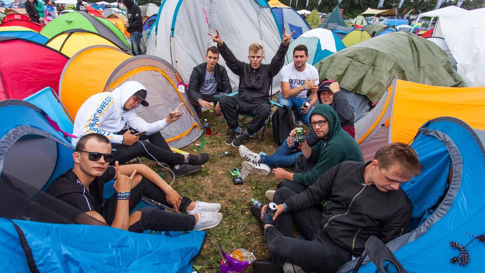 Camping på Defqon
