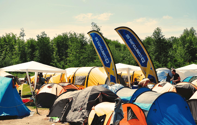 Coretours camp på Defqon