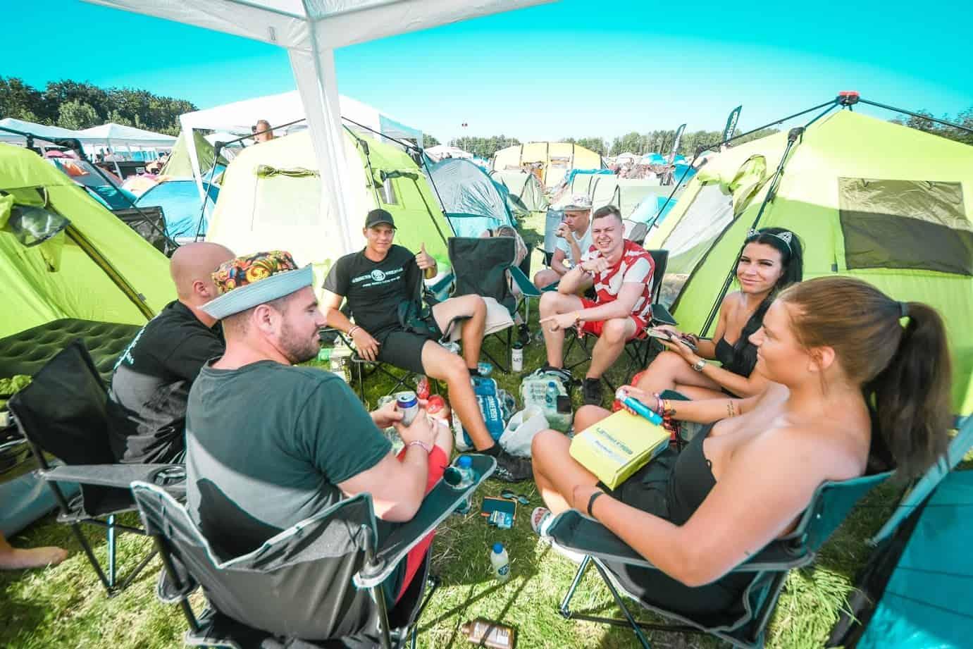 Resenärer på Coretours Camp
