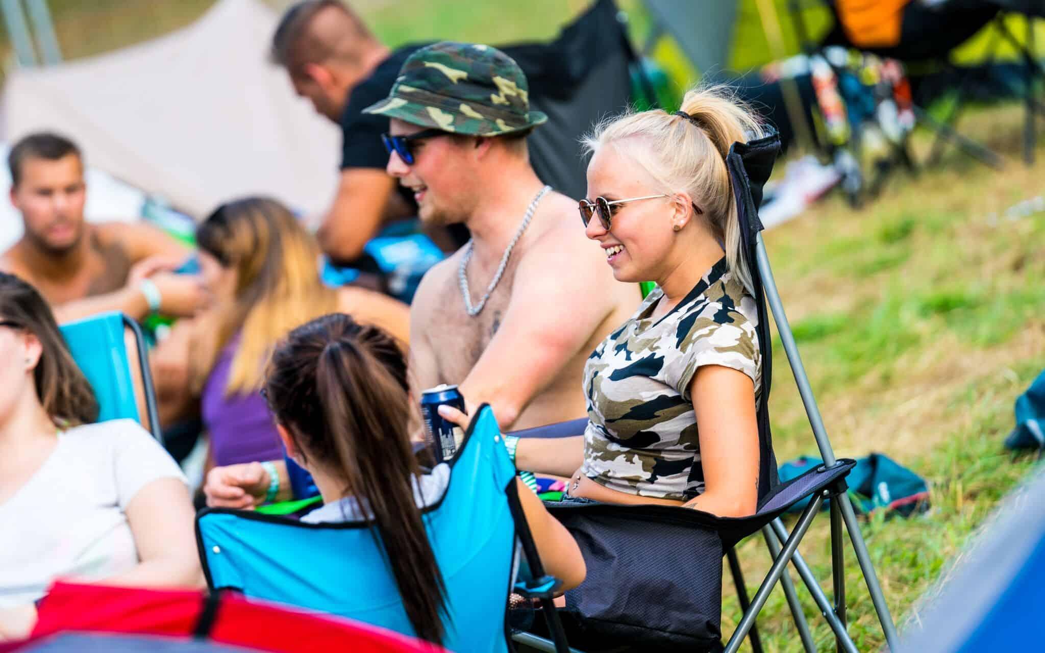 Campinghäng på Owl Festival