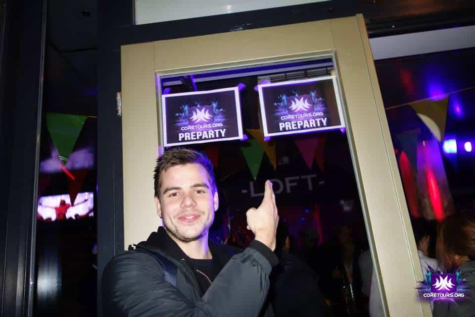 Pre-party på Loft innan Qlimax 2014