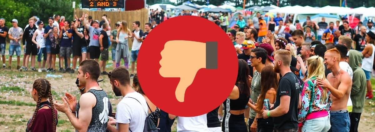Saker du inte ska göra på festival